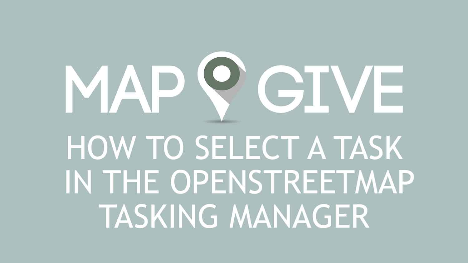 YouTube embedded video: How to Select a Project in the OpenStreetMap Tasking Manager. Press space or enter to play video.