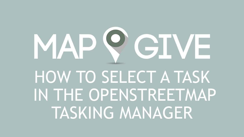 Video di YouTube incorporato: Come selezionare un Task Manager in OpenStreetMap Tasking. Premere la barra spaziatrice o Invio per riprodurre video.
